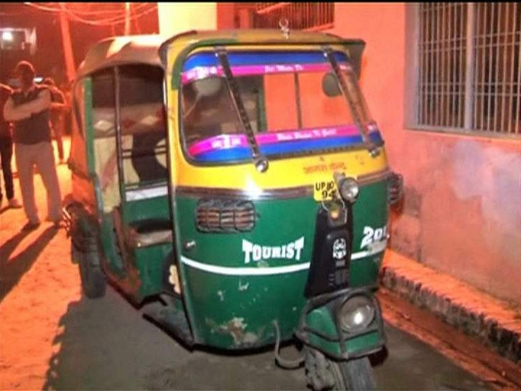 Alleged killer's rickshaw in city of Taj Mahal, India