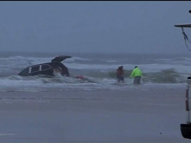 Woman drives car into sea in Florida