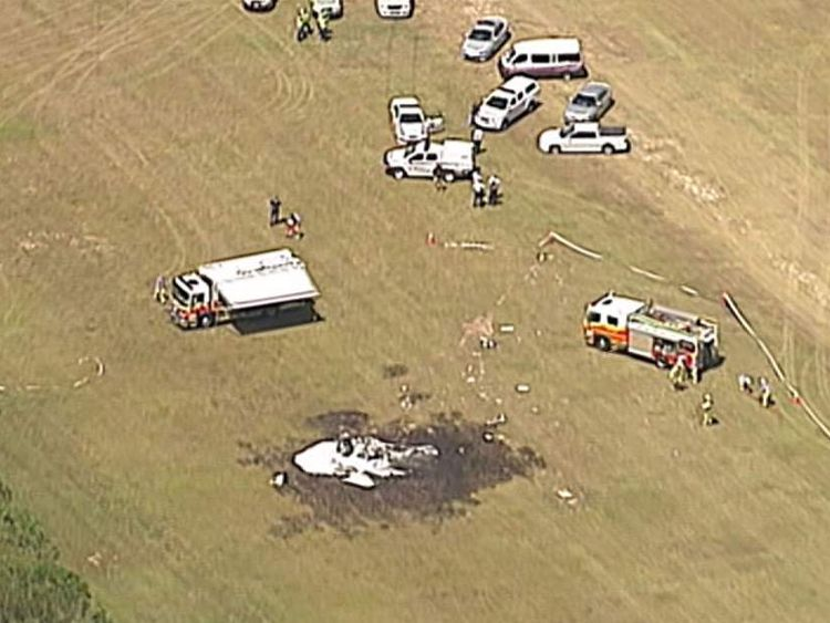Five people are feared dead after a plane used for skydiving crashed at an airfield in eastern Australia.