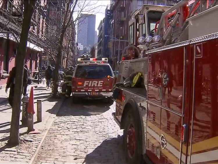 Rescue teams at NYC building after survives elevator shaft fall