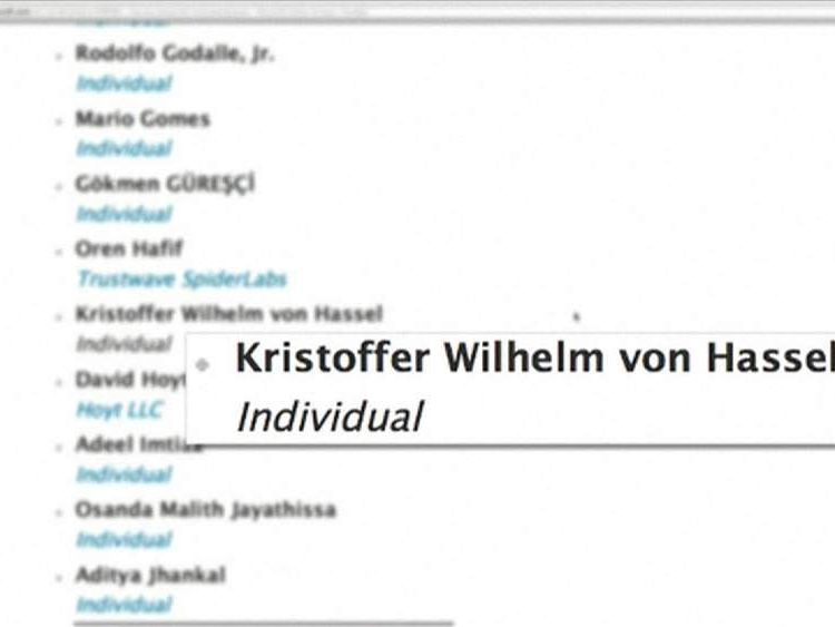 Xbox put Kristoffer Von Hassel's name on the website