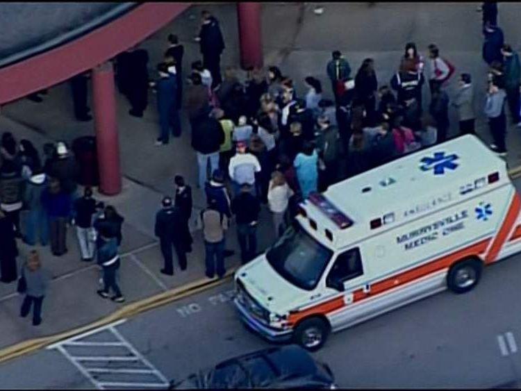 Emergency services at Franklin Regional High School In Pennsylvania.