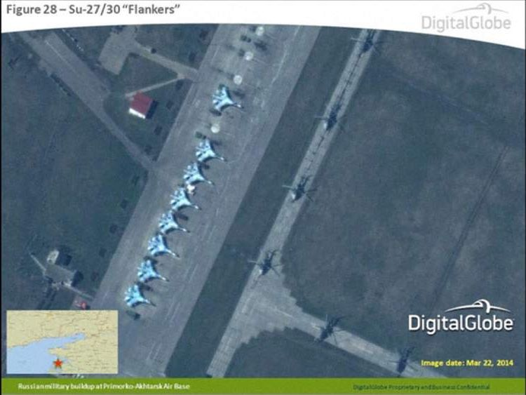 Nato release digital Globe satellite images of Russian Military on Ukraine border