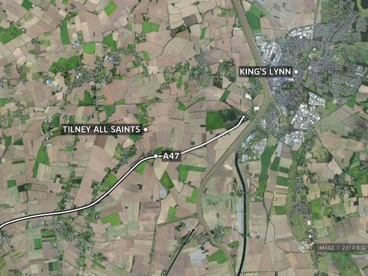 The A47 near King's Lynn.