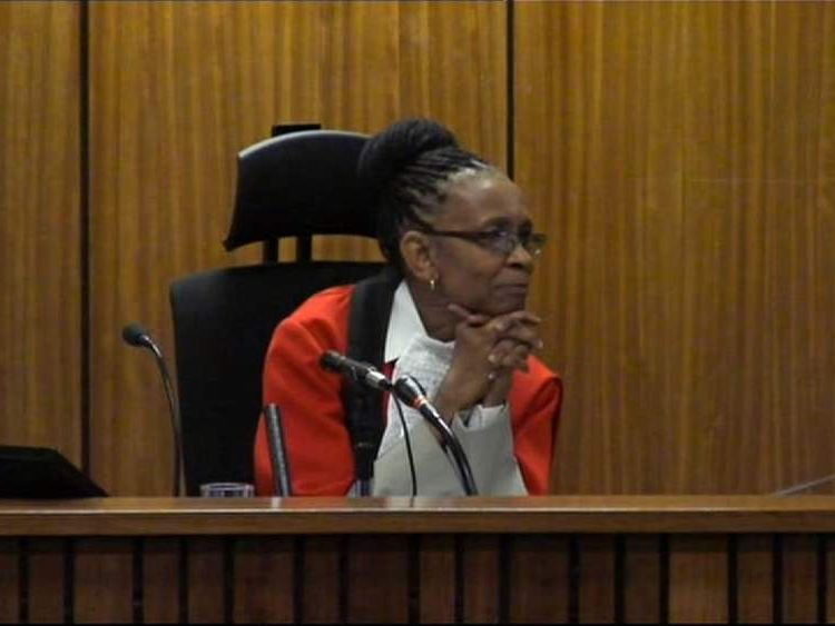 Judge Thokozile Masipa presides over the Oscar Pistorius murder trial