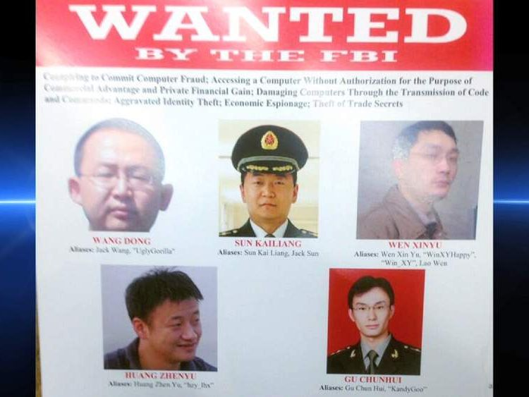 Cyber-spying charges have been brought against China officials.