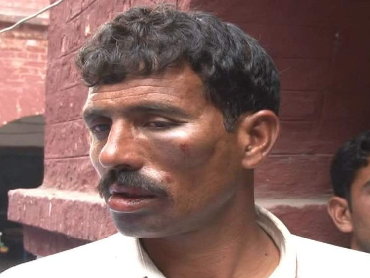 "Mohammad Iqbal, the husband of Farzana Iqbal, who was stoned to death in an ""honour killing""."