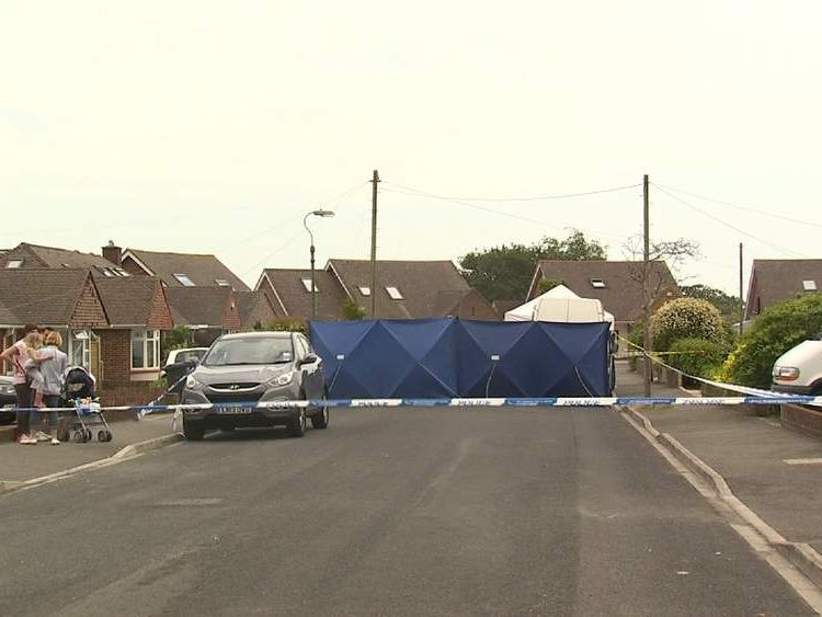 The street in Bournemouth where a body believed to be that of missing nurse Rui Li was found.