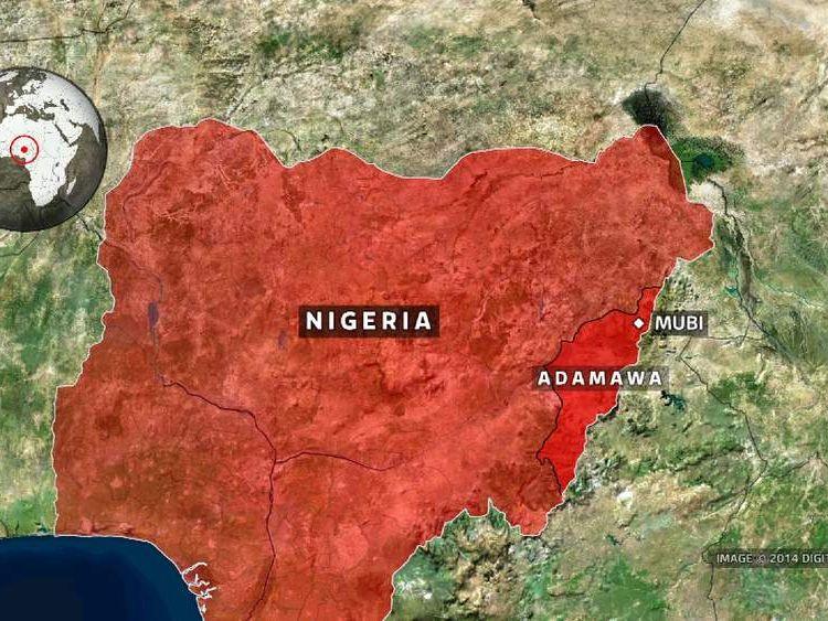 Nigeria, map of Mubi, Adamawa