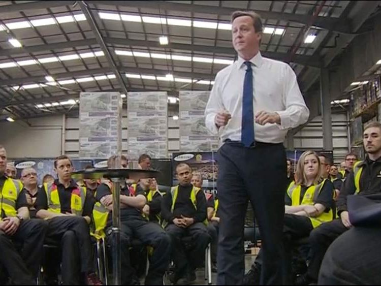 PM David Cameron speaks in Newark