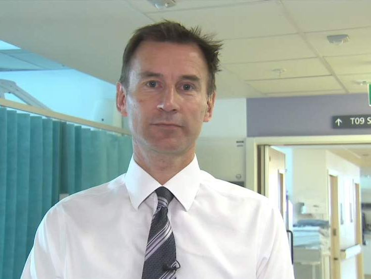 Health Secretary, Jeremy Hunt