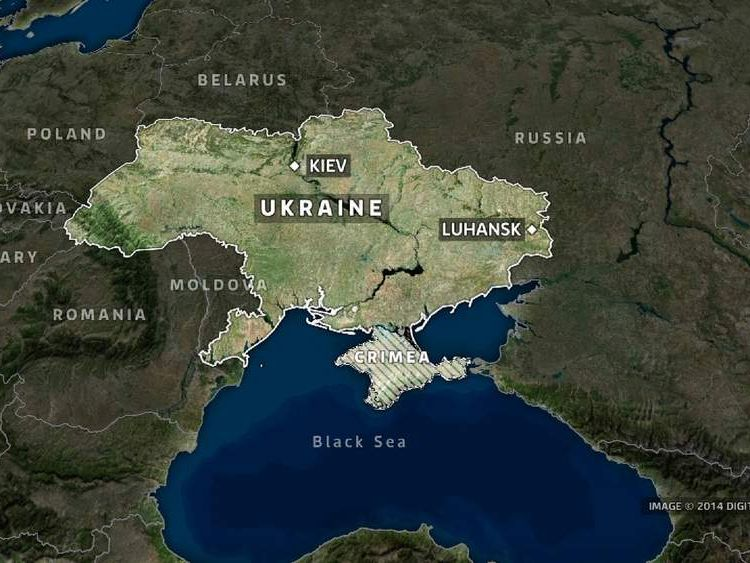 Luhansk in eastern Ukraine.