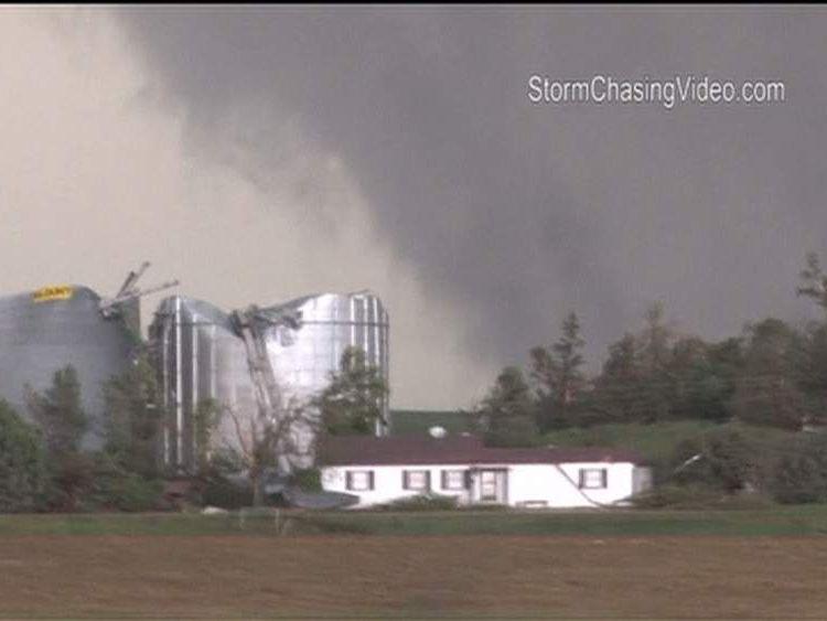 Twin Tornadoes Hit In Nebraska