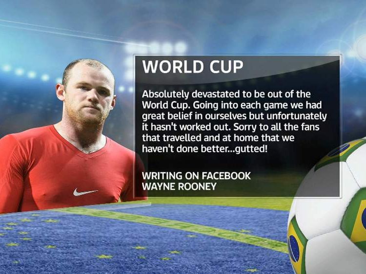 Wayne Rooney's World Cup Facebook apology