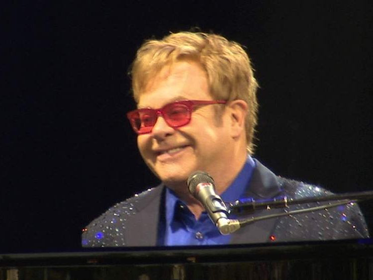 Sir Elton performs at Stoke Park for SportsAid