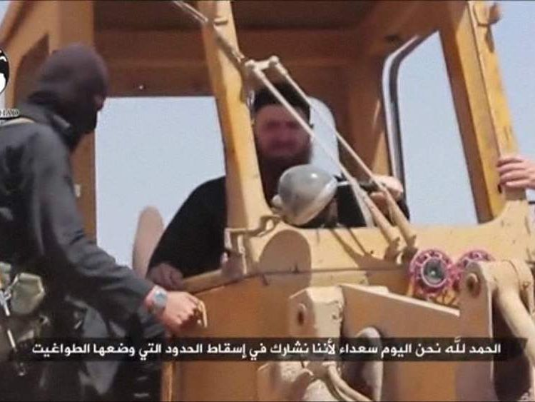 Omar al-Shishani in a digger