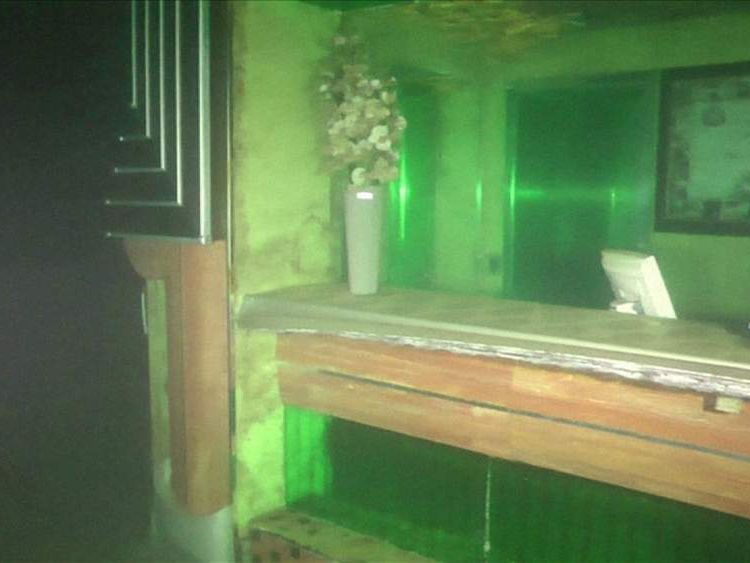 Costa Concordia -  image of help desk from police divers' video of interior