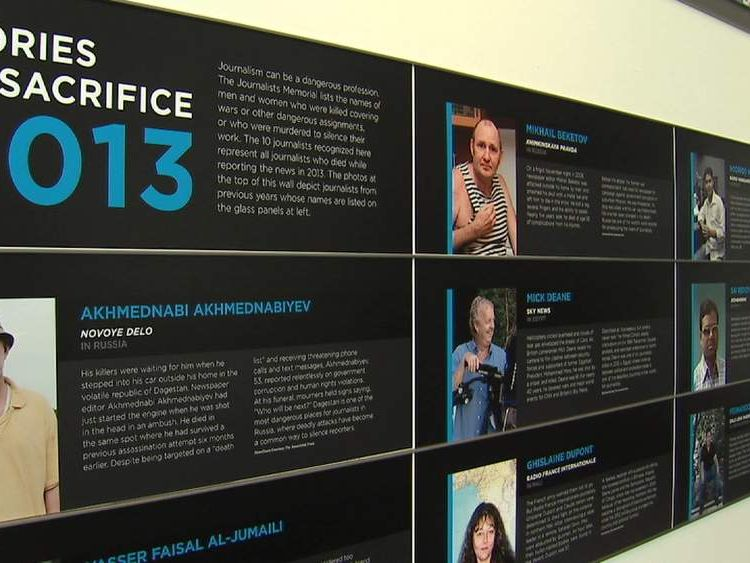 Mick Deane in roll-call at Newseum in Washington DC