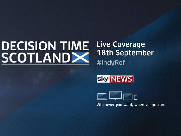 Referendum coverage on Sky News.