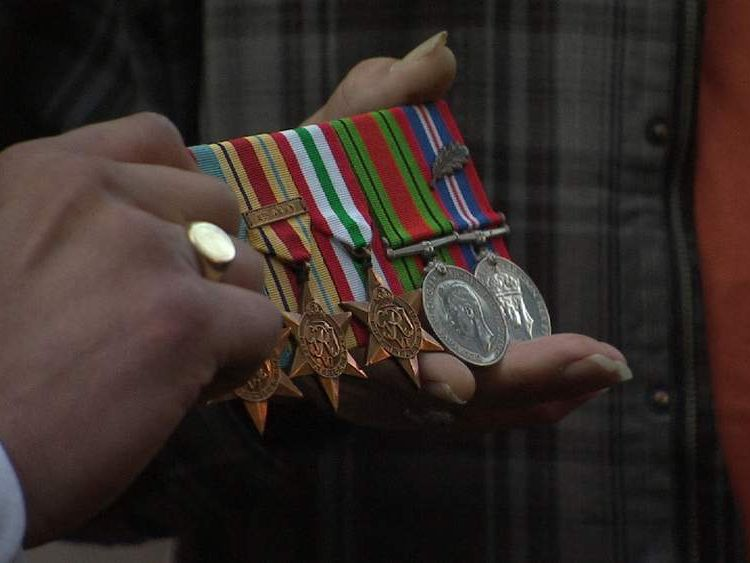 The son of a World War Two veteran who lost his father's medals on Remembrance Day has had them returned after a massive response to a social media appeal.