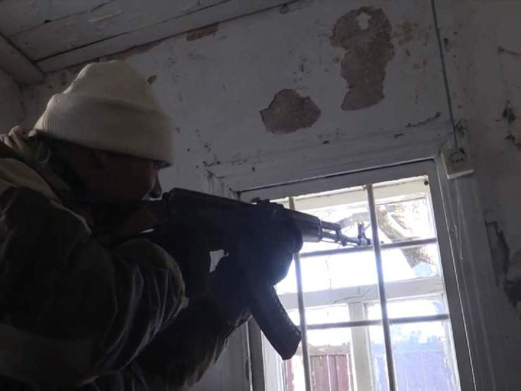 Pro-Russian rebels attacked by Ukrainian troops outside Debalseve, Ukraine