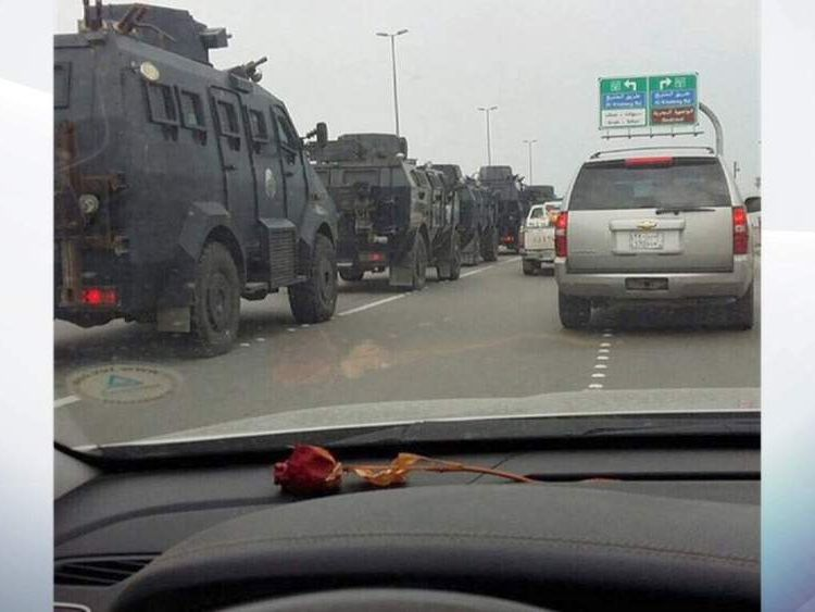 The Saudi army prepares to go into Qatif
