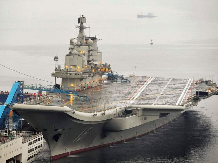 China launches first-ever aircraft carrier