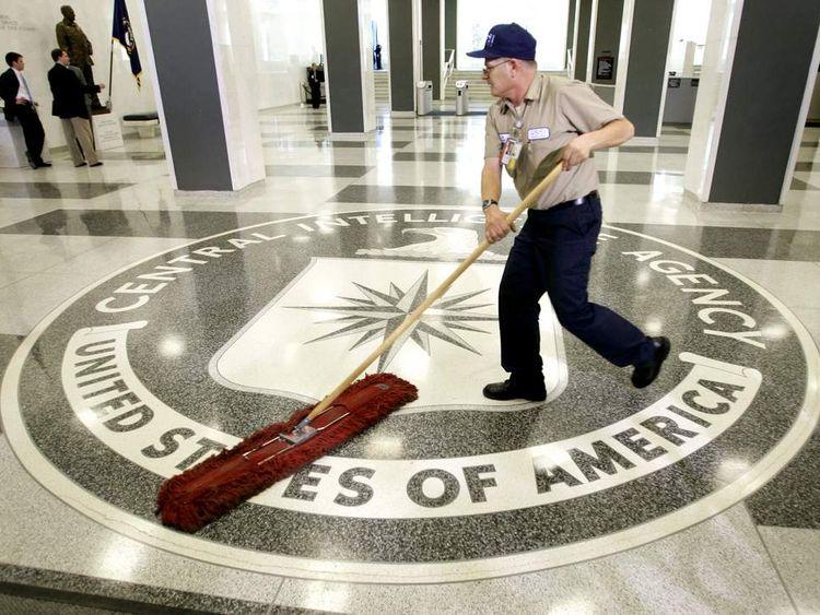 CIA headquarters lobby in Langley, Virginia