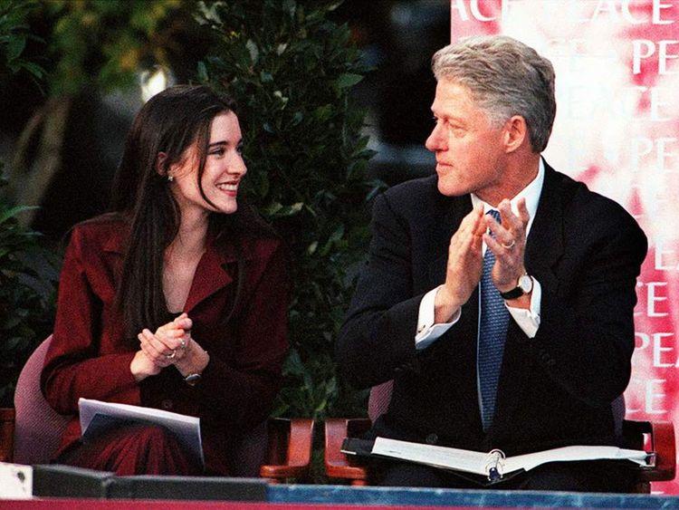 Sharon Haughey and Bill Clinton