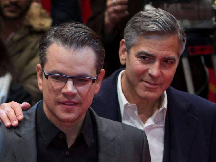 George Clooney (R) and Matt Damon (L)