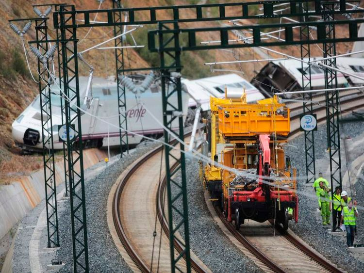 The locomotive of the train.