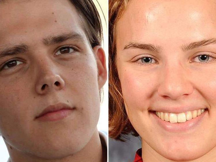 Quinn Lucas Schansman (L) and Karlijn Keijzer