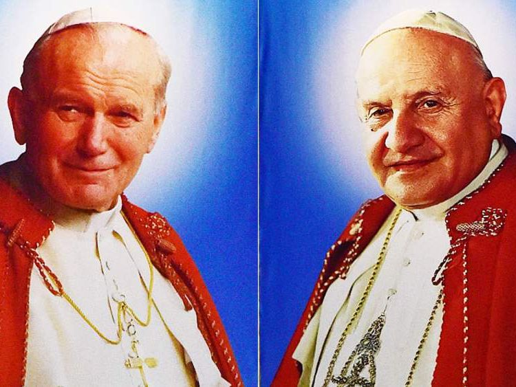 John Paul II and John XXIII