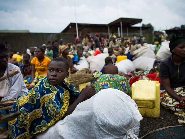 Displaced Congolese citizens near Goma