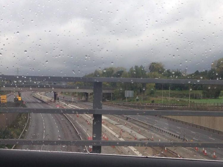 The M25 is closed in both directions at the juntion with the A10. Pic Tom Pearce/Twitter