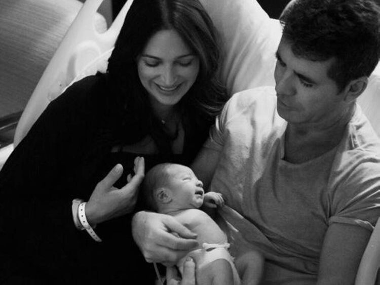 Simon Cowell with partner and son