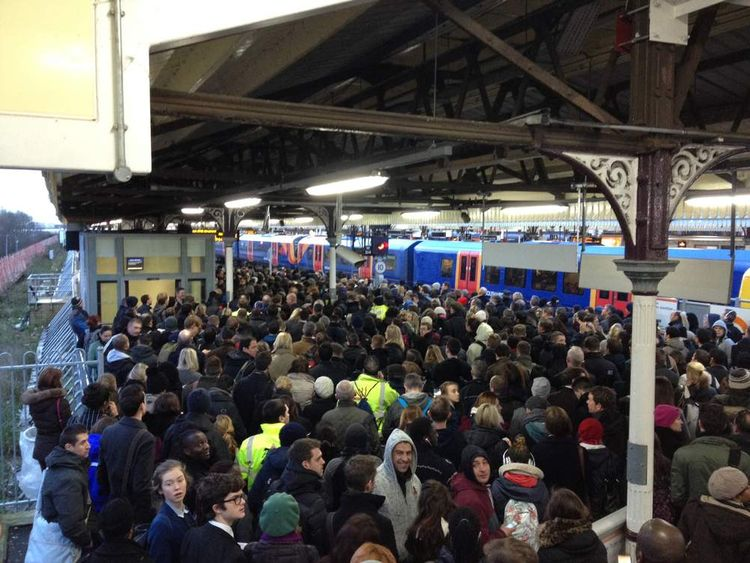 Crowds at Clapham Junction