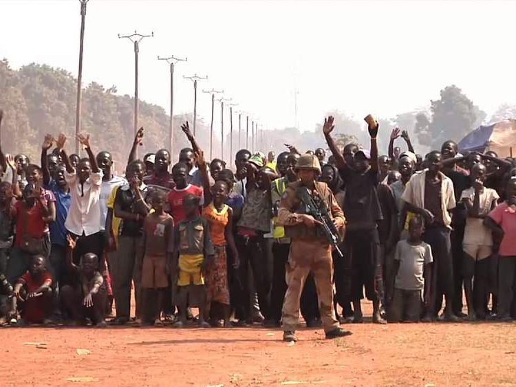 Crowds take to streets of Bangui after president resigns