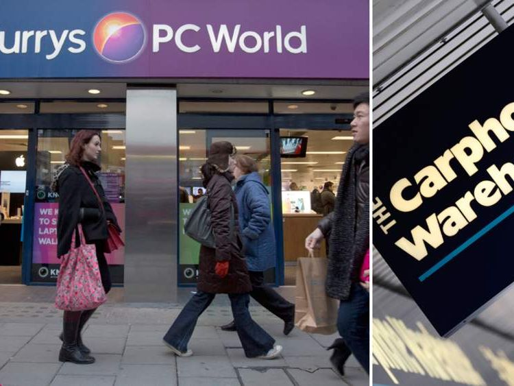 Dixons, which owns Currys and PC World, is in talks with Carphone Warehouse