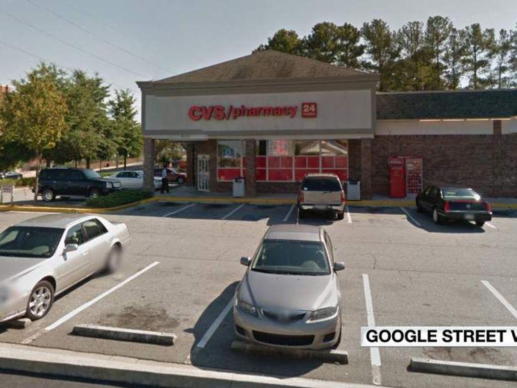Google street view of CVS in Sandy Springs, Georgia - Atlanta suburb