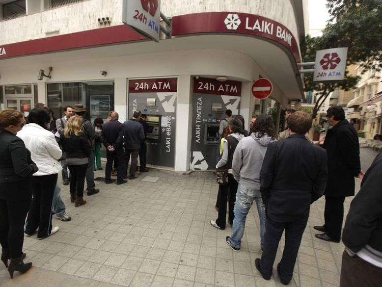 Bank Queues In Cyprus