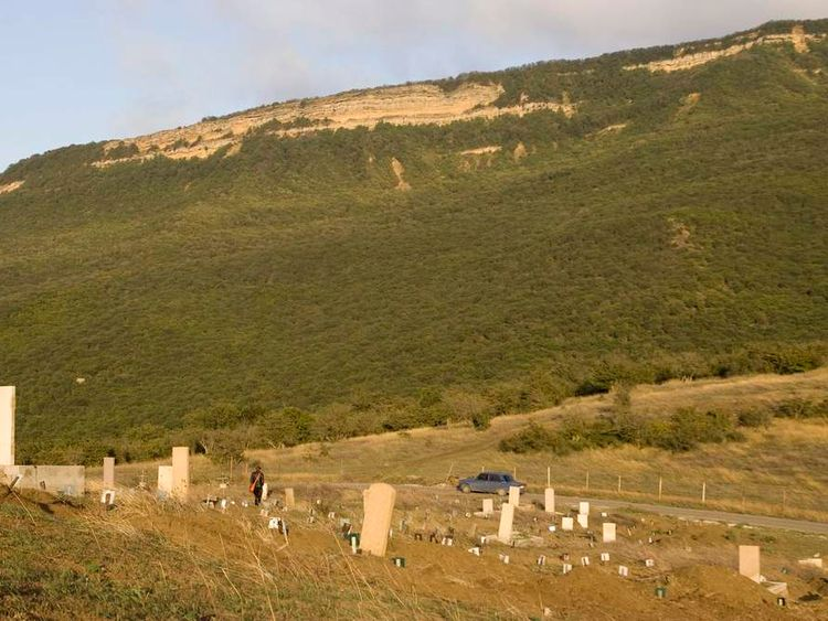 Dagestan cemetery where people killed by security forces are buried