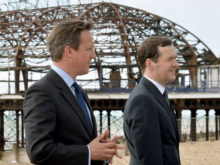 David Cameron and George Osborne Visit Eastbourne Pier