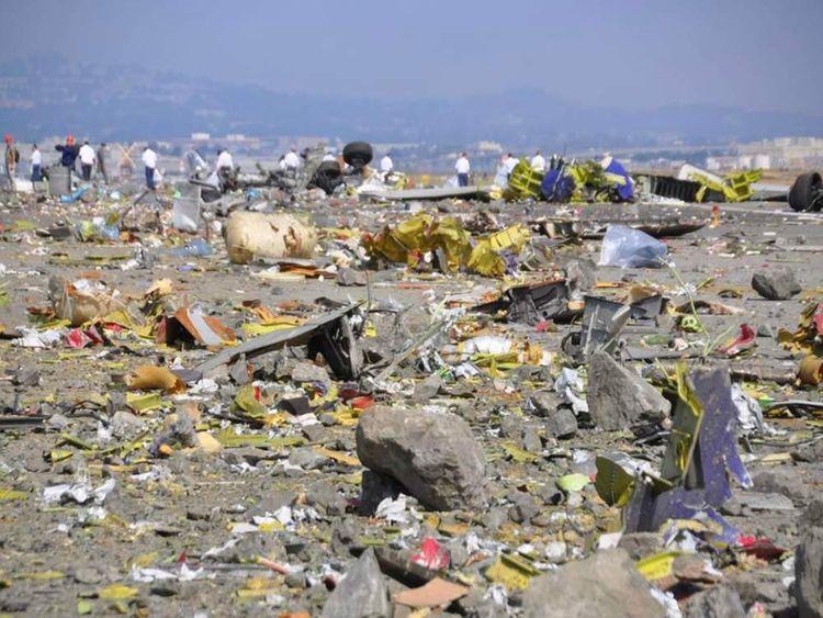 Debris from Asiana flight crash