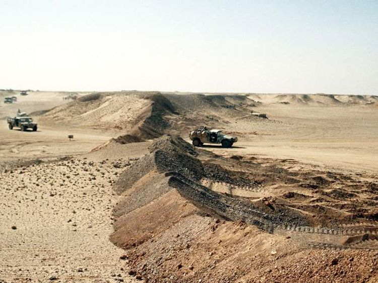 2nd Brigade move their camp near the border of Iraq