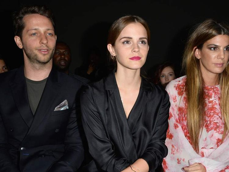 Emma Watson, Derek Blasberg and Bianca Brandolina d'Adda attend the Giambattista Valli