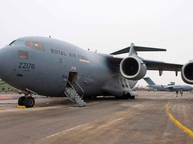 RAF C17 aircraft departs for Mali mission