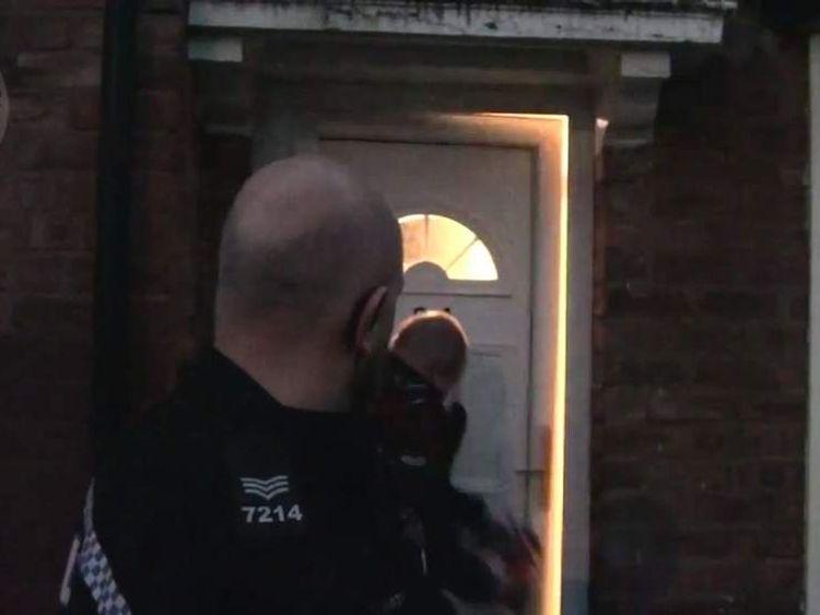 Police raid a suspected brothel in Birmingham
