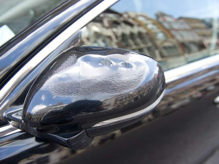 Melted wing mirror