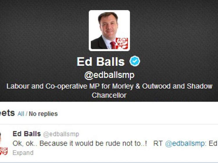 Ed Balls' tweet